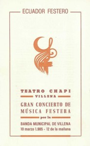 1985 Portada Programa de mano