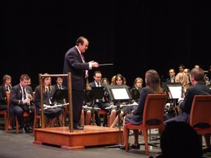 2008 Don Francisco Grau al frente de la Banda Municipal de Villena